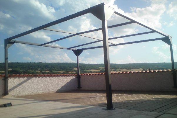 Pergola acier structure 80 X 80 , thermolaqué