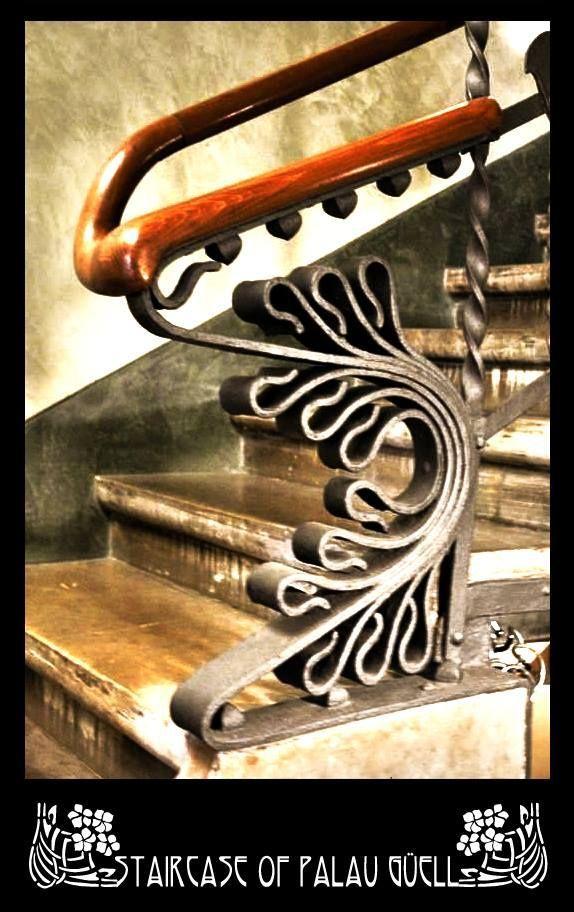 gaudi metalwork | Staircase of Palau Güell by Gaudi. | My Precious Bucket | Pinterest