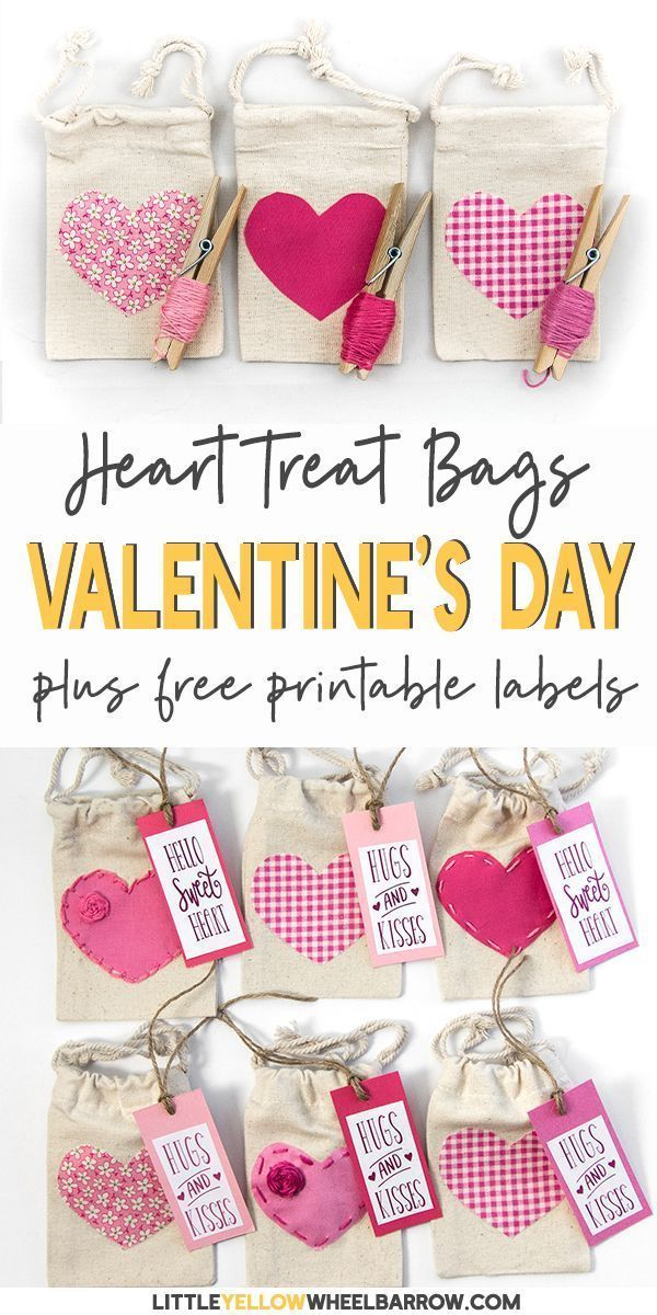 Valentine S Day Treat Bags With Free Printable Labels Easy Diy