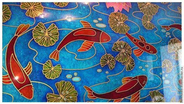 """Расписываем стекло: создаем витражное панно """"Рыбы"""" - Ярмарка Мастеров - ручная работа, handmade"""