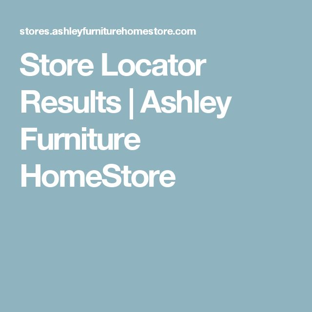 Store Locator Results | Ashley Furniture HomeStore