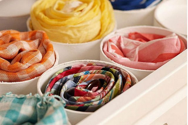 If you are looking for creative, attractive and efficient ways to store your scarves, check out these scarf organizing hacks