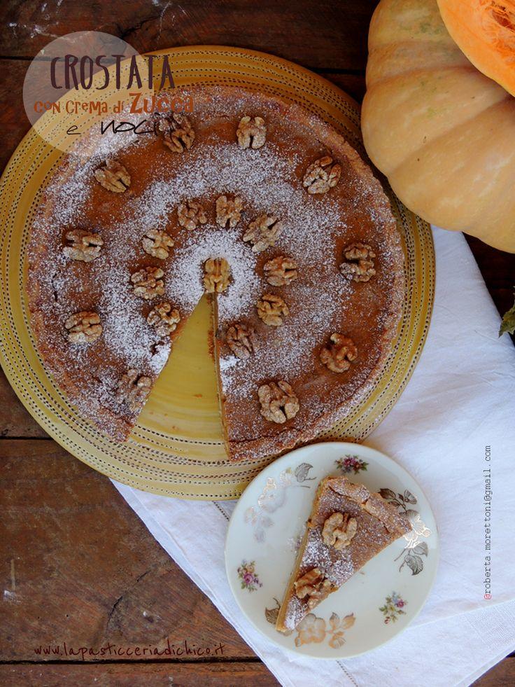 #lapasticceriadichico #Crostata con #crema di zucca e noci.... Una delicata pasta frolla, che racchiude una soffice crema di zucca e noci per allietare i palati più raffinati!!!!! #crostata #zucca #noci #colazione #dolci #ricetta #dolciconfrutta #dolciconlapastafrolla  CLICCA QUI per leggere subito la ricetta: http://www.lapasticceriadichico.it/…/crostata-con-crema-di-…