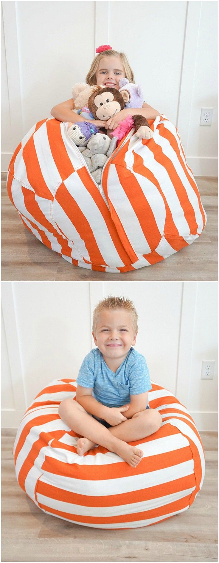 10 stylish ways of hiding storage in plain sight #small #space #home #decor #furniture #stuffed  #animal #kid #bean #bag