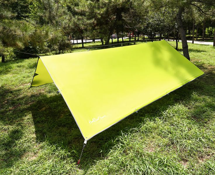 3x3.7m Hammock Rain Fly Tent for Shade Hammock Outdoor Camping Tarp Shelter