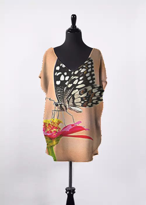 Printed Racerback Top - Spring Iris by VIDA VIDA Outlet High Quality Many Kinds Of Cheap Online Genuine Sale Online cWnzJONvt
