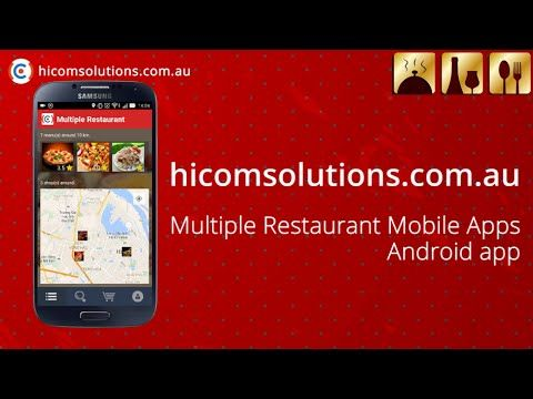 cool Multiple Restaurants android app source code for sale