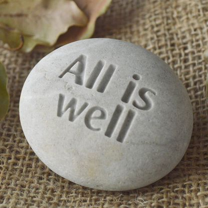 All is well - SJEngraving-Pebbleglyph #inspiration_gift #beach_pebble #message_stone