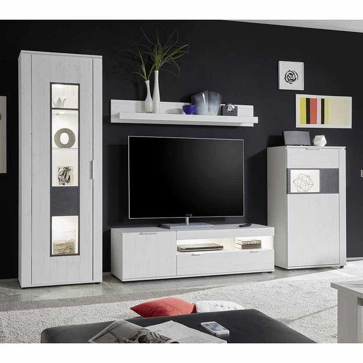 Die besten 25+ Tv schrank weiss Ideen auf Pinterest Tv wand grau - wohnzimmerschrank modern wohnzimmer