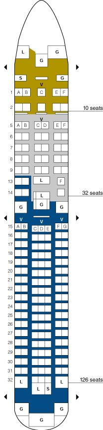 A D E Aef B Ccd Ffeba B United Airlines Seating Plans on Boeing 727 Model Airplane
