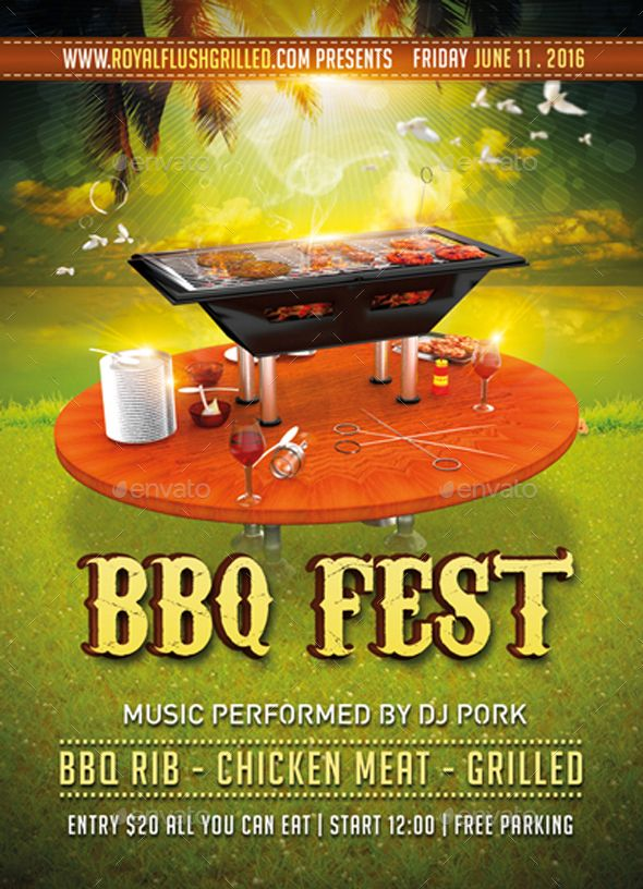 Bbq Fest Flyer +  Fb Banner - Events Flyers
