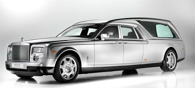Should you have slightly more expensive tastes, there's always this Rolls-Royce Phantom Hearse. The specialty vehicle is set to be unveiled at the Tan Expo funeral home show in Bologna, Italy.