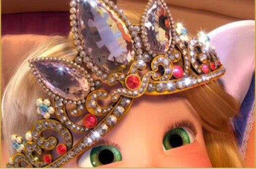 Shines beautifully and very similar to original movie tiara. It opens to her size. The last picture shows Rapunzel tiara so you can compare the design with mine. Fast delivery Like the dress? Its also avaliable on my shop