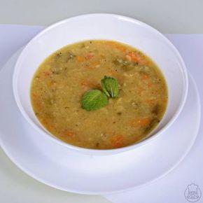Batátová polévka s čočkou a mrkví - Batátová polévka s čočkou a mrkví - s křupavým rohlíčkem mňáám