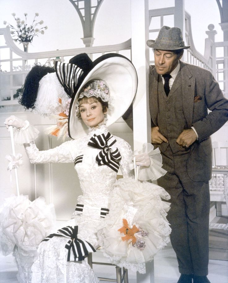 "Audrey Hepburn, 'My Fair Lady'- So want to make a dress based on this and wear it to the races! ""Come on Dover, move ya bloomin' arse!"""