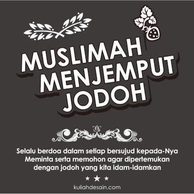 Muslimah Menjemput Jodoh