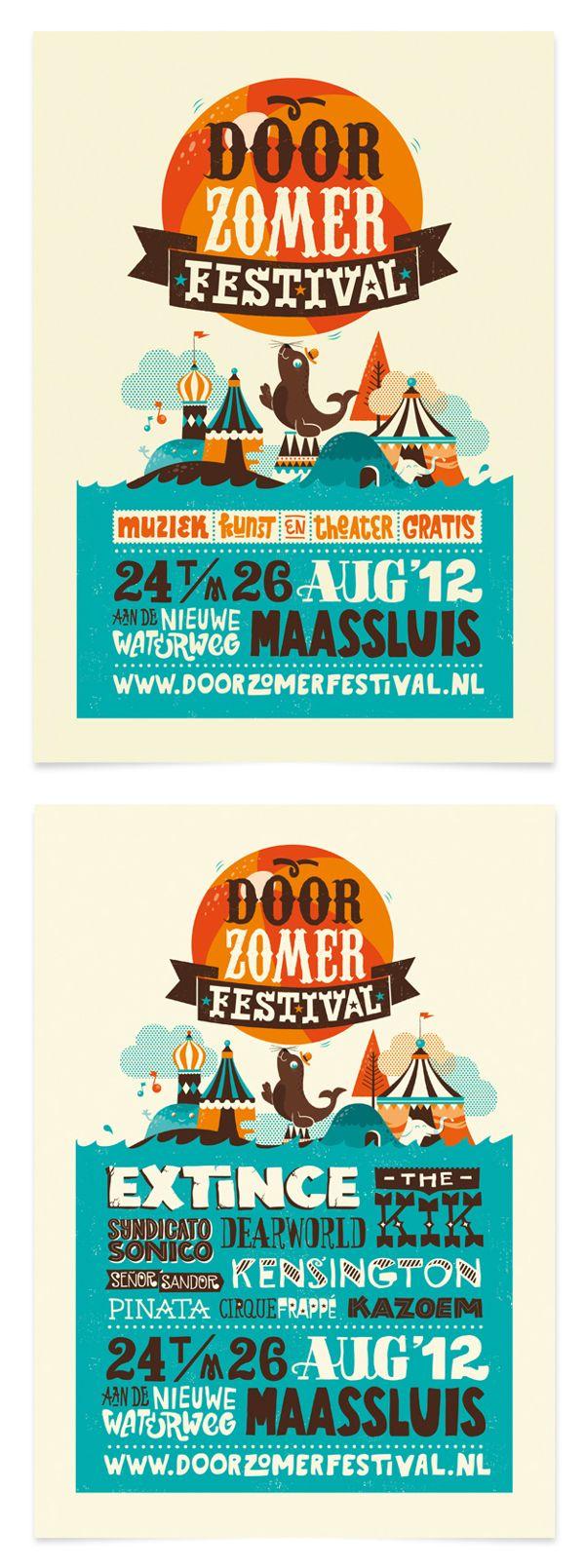 Doorzomer 2012 by Patswerk , via Behance