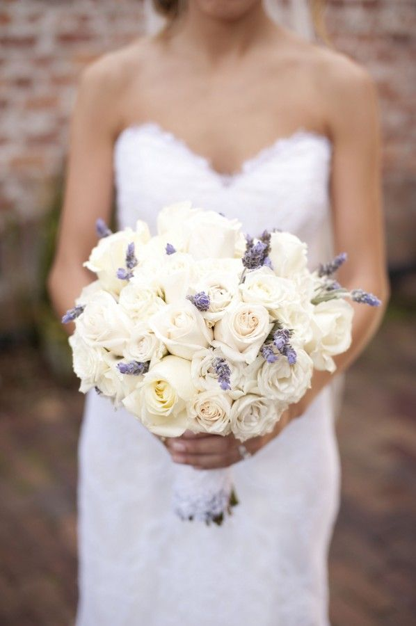 Cream Rose and Lavender Bouquet...perfection!