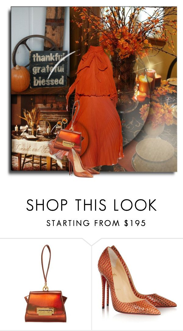 """""""* Thankful For Friends & Family *"""" by hrfost1210 ❤ liked on Polyvore featuring Jenny Packham, ZAC Zac Posen, Christian Louboutin and Lauren Ralph Lauren"""