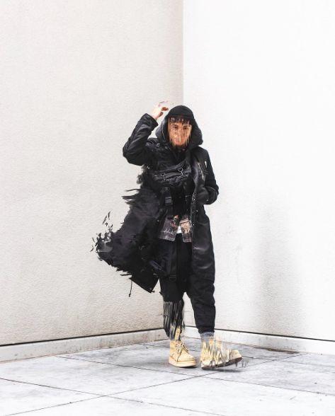 Cyberpunk & techwear als antwoord van de mode wereld op het genre Science Fiction - Foto via @edg.e