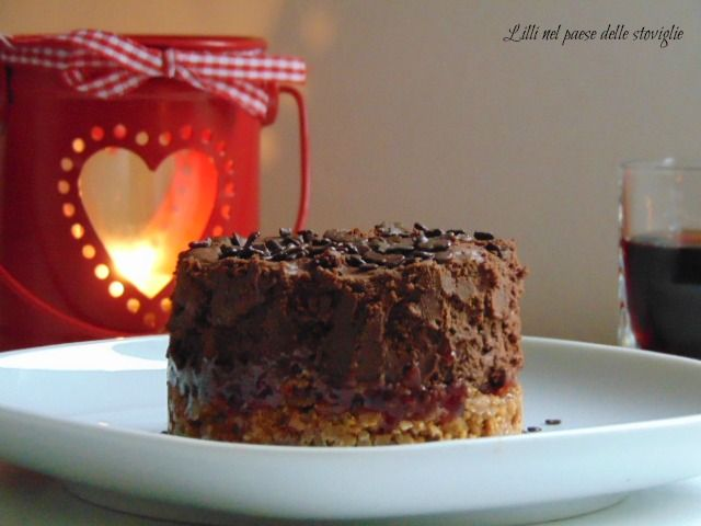 Cremoso al cioccolato lamponi e speculoos