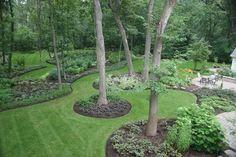 Landscaping around trees...