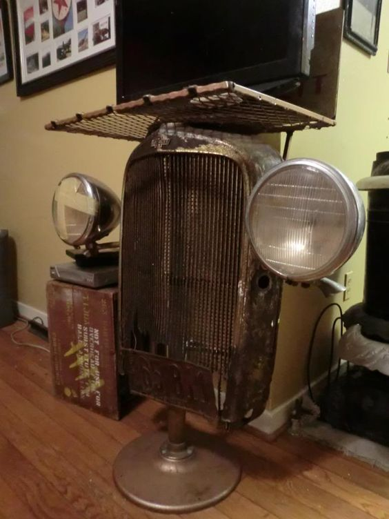 Chevy grille TV table | Wild wheels parts | Pinterest | Grille Tv ...