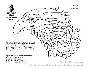 Free Stained Glass Pattern 2016-Bald Eagle