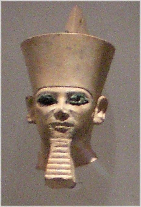 Kopf einer Sitzstatue des Königs Chephren Ägyptisches Museum Leipzig