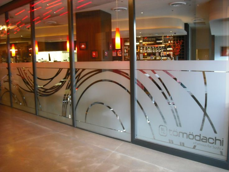 107 best frosted etched vinyl window graphics images on for Vinyl window designs