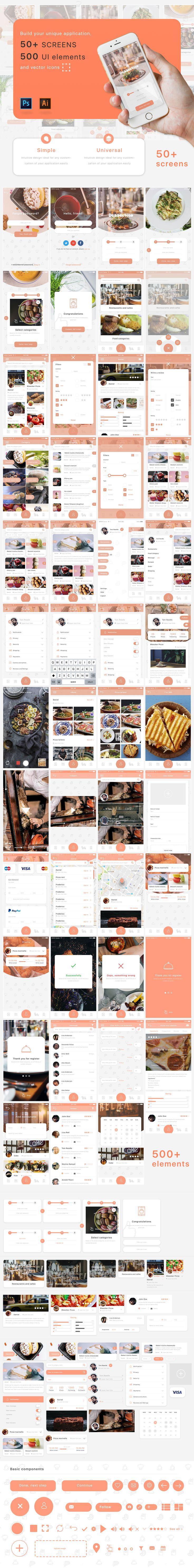 다음 @Behance 프로젝트 확인: \u201cMobile App UI kit\u201d https://www.behance.net/gallery/49212407/Mobile-App-UI-kit