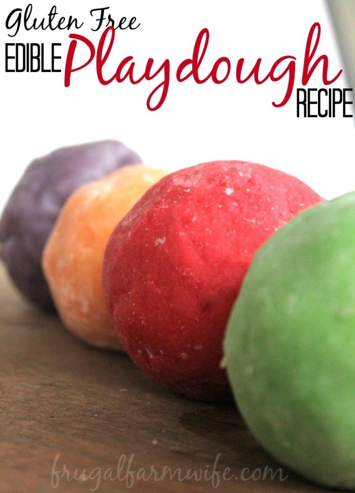 How To Make gluten-free Edible Playdough. This recipe is NOT full of sugar, and my kids LOVED it!
