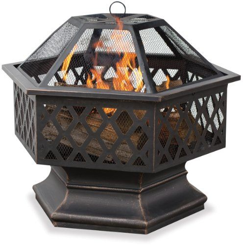 Endless SummerWAD1377SP Hex Shaped Outdoor Fire Bowl with Lattice Oil Rubbed Bronze