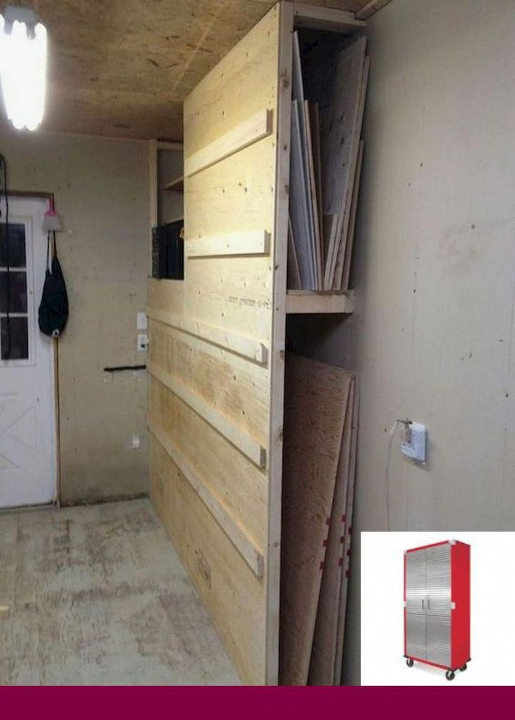 Folding Garage Workbench Diy Garageorganization And Diygarage
