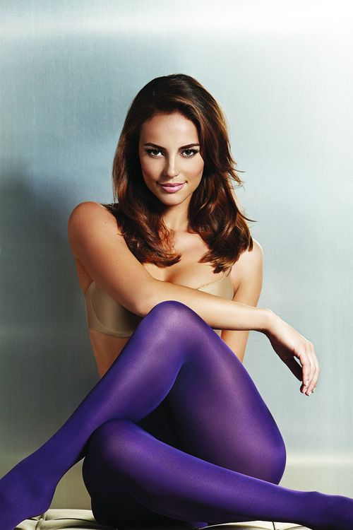 Paola Oliveira in purple tights.