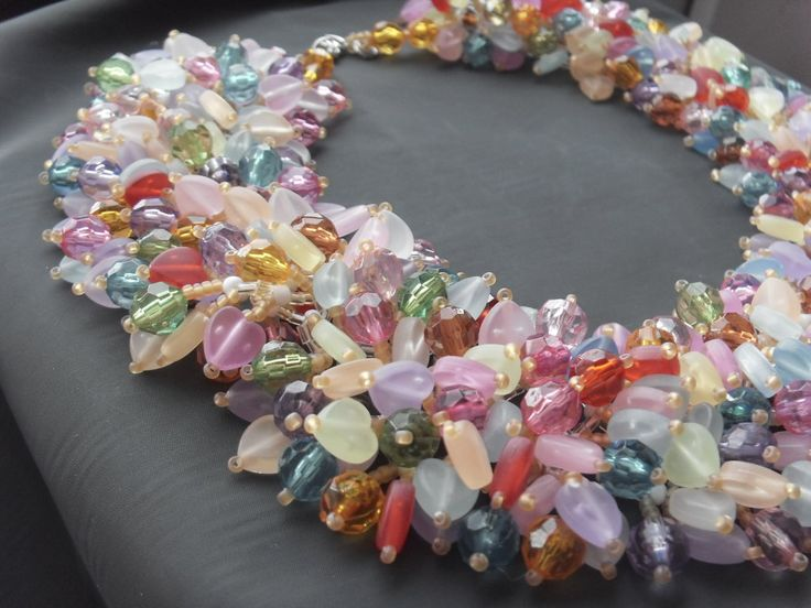 Colorful necklace with a bracelet