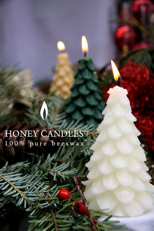 Beeswax Honey Candles® Yule Tree - Pearl