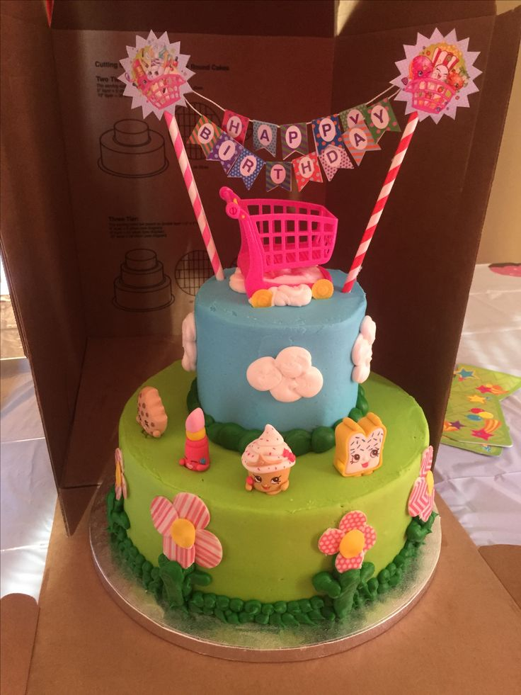 Sams Club 2 Tier Cake With Added Shopkins Sams Made The