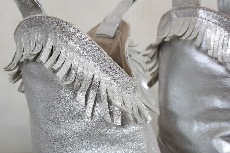 Handmade Hi Ho Leather Boots in Silver - Magnolia Pearl