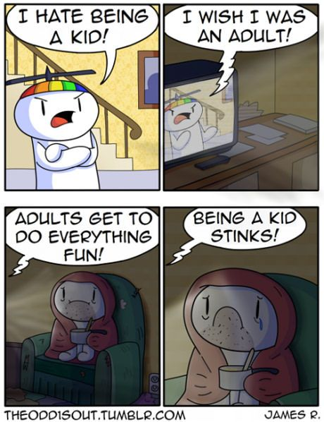 I hate being a kid