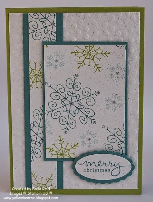 Yellowbear Stampin: Endless Wishes One Sheet Wonder and an ESAD Blog Hop Christmas card