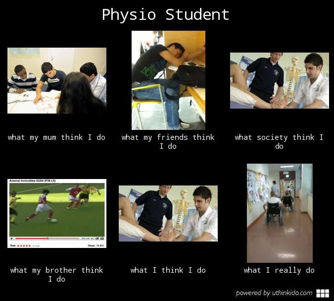 Physio Student What People Think I Do What I Really Do