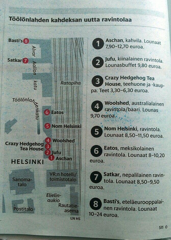 Töölönlahti uudet ravintolat kahvilat Helsinki rautatieasema Aschan Woolshed Nom