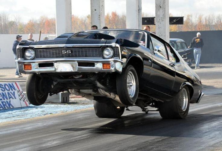 1971-72 Chevrolet Nova SS / Super Sport getting some wheels up action!
