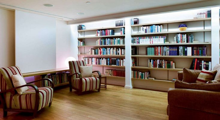 Creating a quiet home library is a great use of the space afforded by a basement conversion.