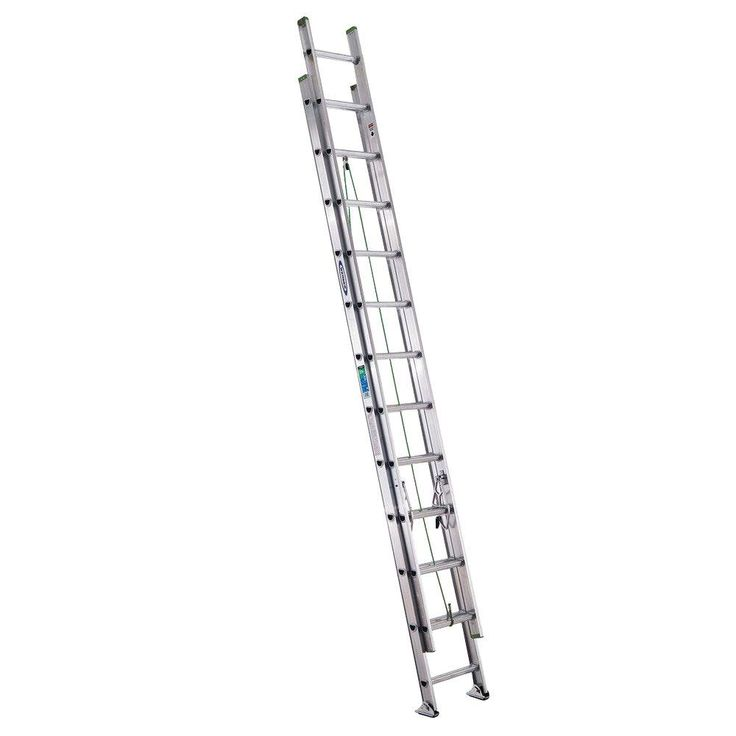 Werner 24 ft. Aluminum Extension Ladder with 225 lb. Load Capacity Type II Duty Rating-D1224-2 - The Home Depot