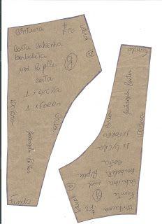 Josangela Pontes: molde de calcinha de biquíni ripple modelo borboleta