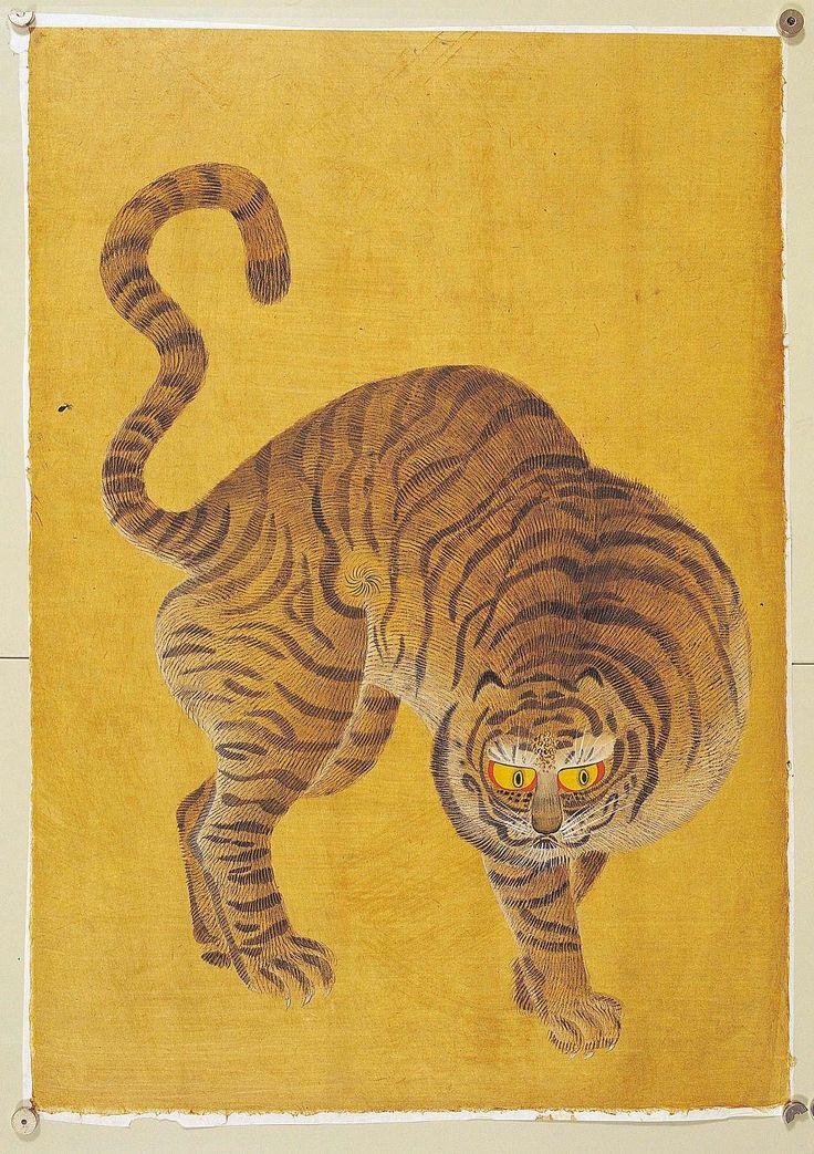 Korean folk art tiger.