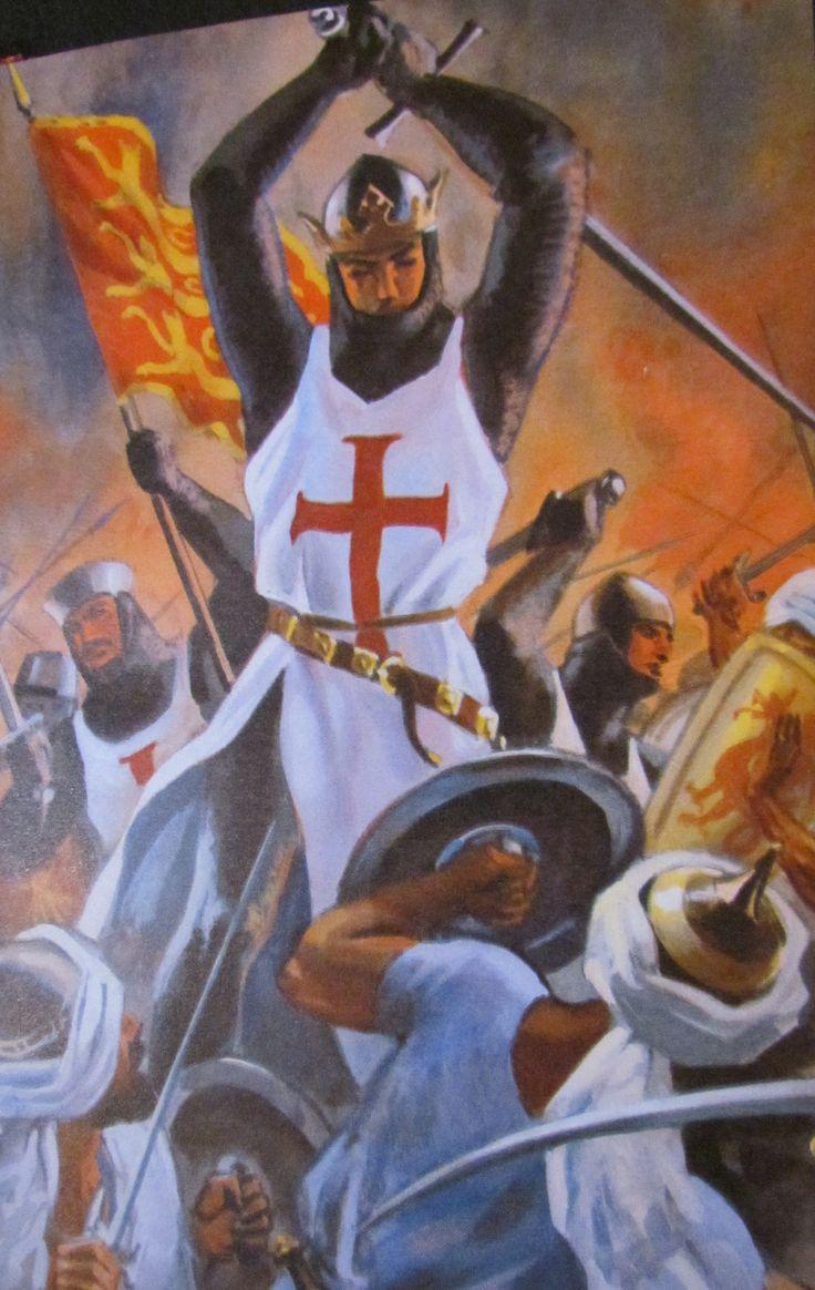 English Templar Crusaders defeating the Saracens