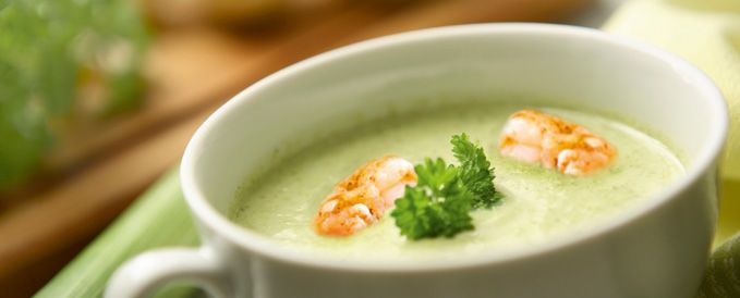 Leek Soup with Prawns | Soup for weight loss from Almased